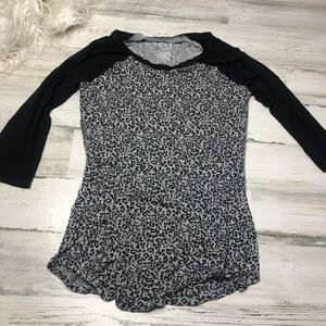 Maurices 24/7 shirt size XS leopard print soft